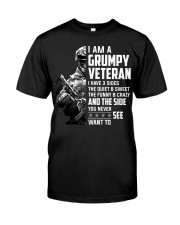 I Am A Grumpy Veteran I Have Three Sides Classic T-Shirt thumbnail