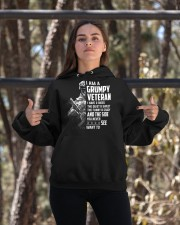 I Am A Grumpy Veteran I Have Three Sides Hooded Sweatshirt apparel-hooded-sweatshirt-lifestyle-05