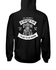Biker Clothes Retirement Plan Hooded Sweatshirt thumbnail