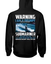 Warning I Am A Grumpy Submariner  Hooded Sweatshirt thumbnail
