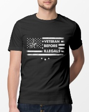Veteran Before Illegals  Classic T-Shirt lifestyle-mens-crewneck-front-13