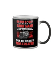 Thus the Trucker was created Color Changing Mug thumbnail