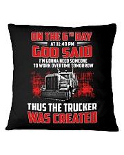 Thus the Trucker was created Square Pillowcase thumbnail