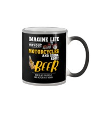 Imagine Life Without Motorcycle And Drink Some Bee Color Changing Mug thumbnail