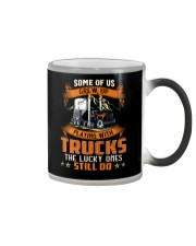 Some of us grew up playing with dump trucks Color Changing Mug thumbnail