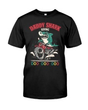 Daddy Shark Riding Classic T-Shirt front