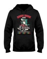 Daddy Shark Riding Hooded Sweatshirt thumbnail