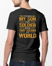 To The World My Son Is Just A Soldier  Classic T-Shirt lifestyle-mens-crewneck-back-5