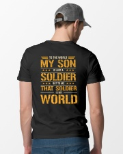 To The World My Son Is Just A Soldier  Classic T-Shirt lifestyle-mens-crewneck-back-6