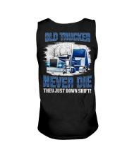 OLD TRUCKER NEVER DIE Unisex Tank thumbnail