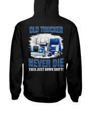 OLD TRUCKER NEVER DIE Hooded Sweatshirt thumbnail