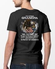 I Am A Grandpa Veteran Protect My Grandkids Classic T-Shirt lifestyle-mens-crewneck-back-5