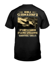 Being A Submarine  Classic T-Shirt back