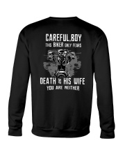 This BIKER only fears DEATH and HIS WIFE Crewneck Sweatshirt tile