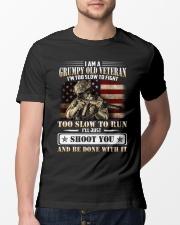 I Am A Grumpy Old Veteran Classic T-Shirt lifestyle-mens-crewneck-front-13