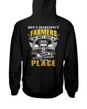 Don't Disrespect Farmer Hooded Sweatshirt back