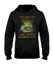 Trucker Clothes - Stop Asking Why Hooded Sweatshirt thumbnail