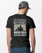 PERFECT DAD BIKER DAD Classic T-Shirt lifestyle-mens-crewneck-back-6