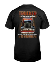 TRUCKER - If you think you can do my job Classic T-Shirt back