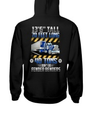 Trucker Clothes - Container Truck 70 Feet Hooded Sweatshirt back