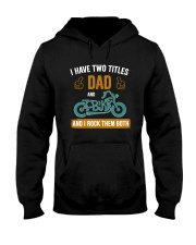 I have two titles DAD and BIKER Hooded Sweatshirt thumbnail