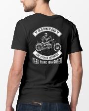 OLD BIKER DAD  SON OF ARTHRITIS  Classic T-Shirt lifestyle-mens-crewneck-back-5