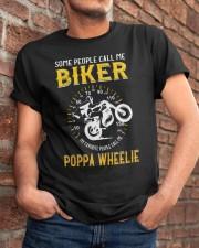MY FAVORITE PEOPLE CALL ME POPPA WHEELIE Classic T-Shirt apparel-classic-tshirt-lifestyle-26