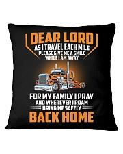 Trucker - Pray For Family - Safely Back Home Square Pillowcase thumbnail