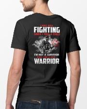 I Am Not A Survivor I Am A Warrior Classic T-Shirt lifestyle-mens-crewneck-back-5
