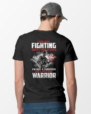 I Am Not A Survivor I Am A Warrior Classic T-Shirt lifestyle-mens-crewneck-back-6