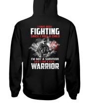 I Am Not A Survivor I Am A Warrior Hooded Sweatshirt tile