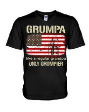 Grumpa Like A Regular Grandpa V-Neck T-Shirt thumbnail