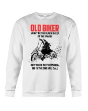 OLD BIKER - MIGHT BE THE BLACK SHEEP OF THE FAMILY Crewneck Sweatshirt thumbnail