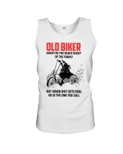 OLD BIKER - MIGHT BE THE BLACK SHEEP OF THE FAMILY Unisex Tank thumbnail