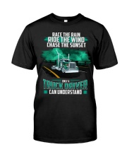 Trucker clothes - Race the rain Classic T-Shirt front