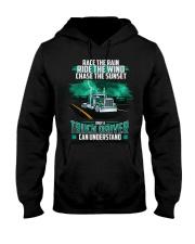 Trucker clothes - Race the rain Hooded Sweatshirt thumbnail