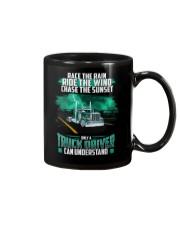 Trucker clothes - Race the rain Mug thumbnail