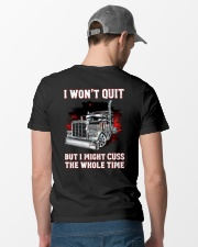 I won't quit but I might cuss the whole time Classic T-Shirt lifestyle-mens-crewneck-back-6
