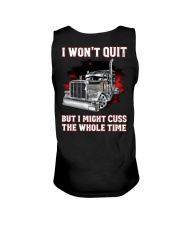 I won't quit but I might cuss the whole time Unisex Tank thumbnail