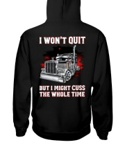 I won't quit but I might cuss the whole time Hooded Sweatshirt thumbnail