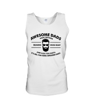 AWESOME DAD HAS TATTOOS - BEARDS - WARM HEART Unisex Tank thumbnail