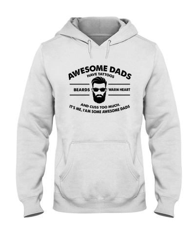 AWESOME DAD HAS TATTOOS - BEARDS - WARM HEART
