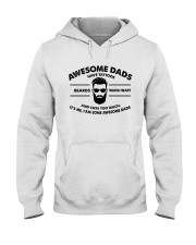AWESOME DAD HAS TATTOOS - BEARDS - WARM HEART Hooded Sweatshirt tile