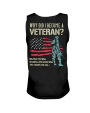 Why Did I Become A Veteran Unisex Tank back