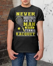 Never Understimate An Old Man With A Tennis Shirt Classic T-Shirt apparel-classic-tshirt-lifestyle-31