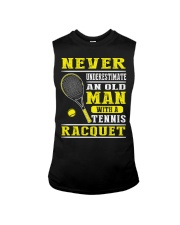 Never Understimate An Old Man With A Tennis Shirt Sleeveless Tee thumbnail