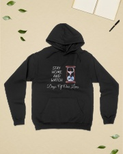 Stay Home and Watch DOOL Hooded Sweatshirt lifestyle-unisex-hoodie-front-6