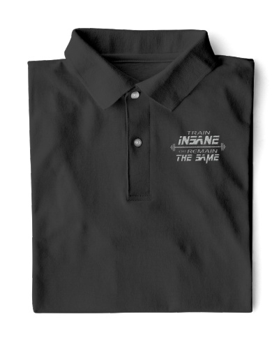 WEIGHT LIFTING Train Insane Embro Shirt