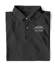 WEIGHT LIFTING Train Insane Embro Shirt Classic Polo tile