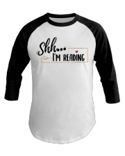 Shhh Reading Baseball Tee thumbnail